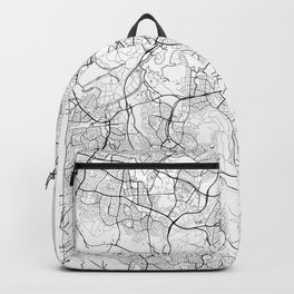 Canberra Map White Backpack