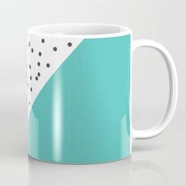 Geometric grey and turquoise design Coffee Mug