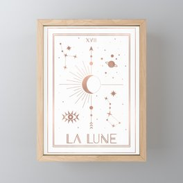 La Lune or The Moon White Edition Framed Mini Art Print