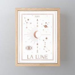 La Lune or The Moon White Edition Framed Mini Art Print