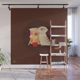 Coffee & Cat love Wall Mural