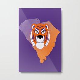 Clemson South Carolina State Tiger Watercolor Print Metal Print