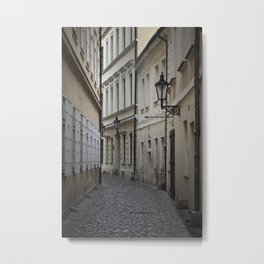 Alleyway in Prague Metal Print