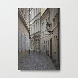 Alleyway in Prague Metal Print