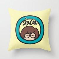 daria Throw Pillows featuring Daria Symbol by Marianna
