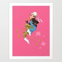 Video game girl 06 Art Print