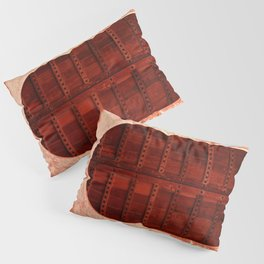 Masala Chai - Red Door in India - Millenial Pink Magenta Maroon - Antique Eclectic Travel Architecture Pillow Sham