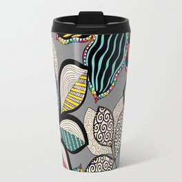 Floral pattern draw Travel Mug