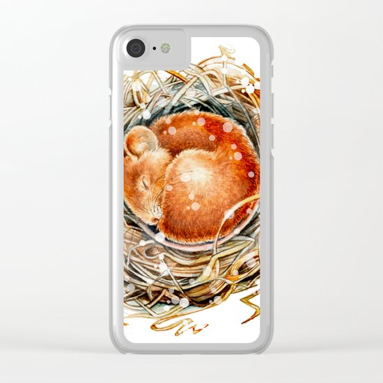 Mouse in the Snow Clear iPhone Case
