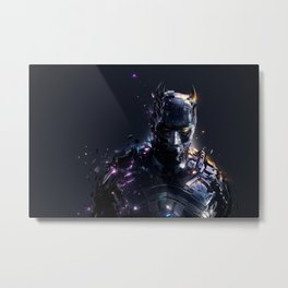 The Caped Crusader Metal Print