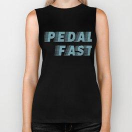 Pedal Fast Cycling I Love Pedaling Riding Bikes Blue Biker Tank