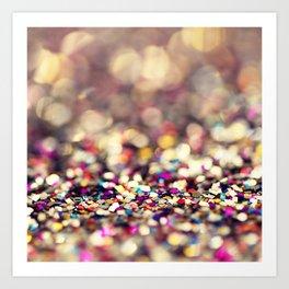 Rainbow Sprinkles - an abstract photograph Art Print