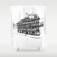victorian Shower Curtains featuring Victorian Building by CRNS