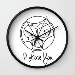 I Love you Gallifreyan Doctor Who Wall Clock