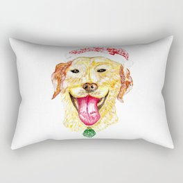Cute Christmas Dog Rectangular Pillow