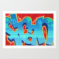 crossfit Art Prints featuring Crossfit (WOD) Poster - FRAN by Blur 116th