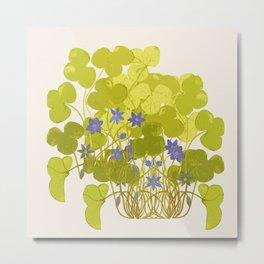 Plant life in violet palette Metal Print