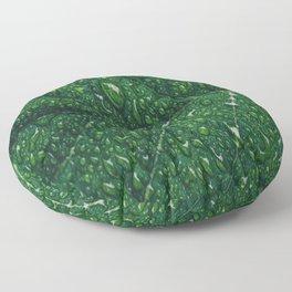 leaf dew drops Floor Pillow
