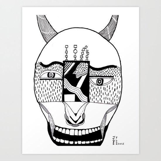 The Devil and His Door Art Print