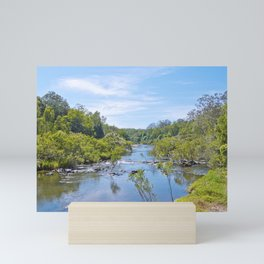 Beautiful tranquil river in the tropics Mini Art Print