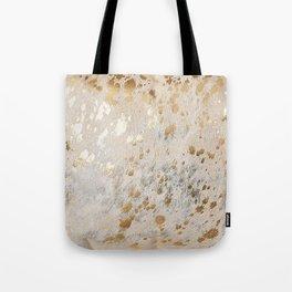 Gold Hide Print Metallic Tote Bag