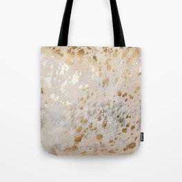 Gold Hide Print Metallic Tote Bag