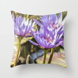 Lavender Lilies Throw Pillow