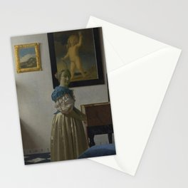 "Johannes Vermeer ""Lady Standing at a Virginal"" Stationery Cards"