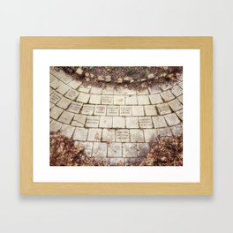 Memory Stones - Centennial Garden in Bettendorf, Iowa Framed Art Print