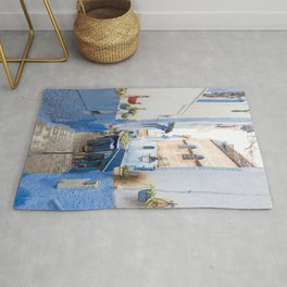 Hidden Alleyways of Chefchaouen, Morocco - The Blue City Rug