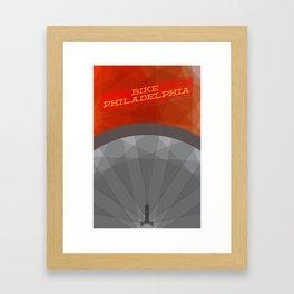 Bike Philadelphia Framed Art Print