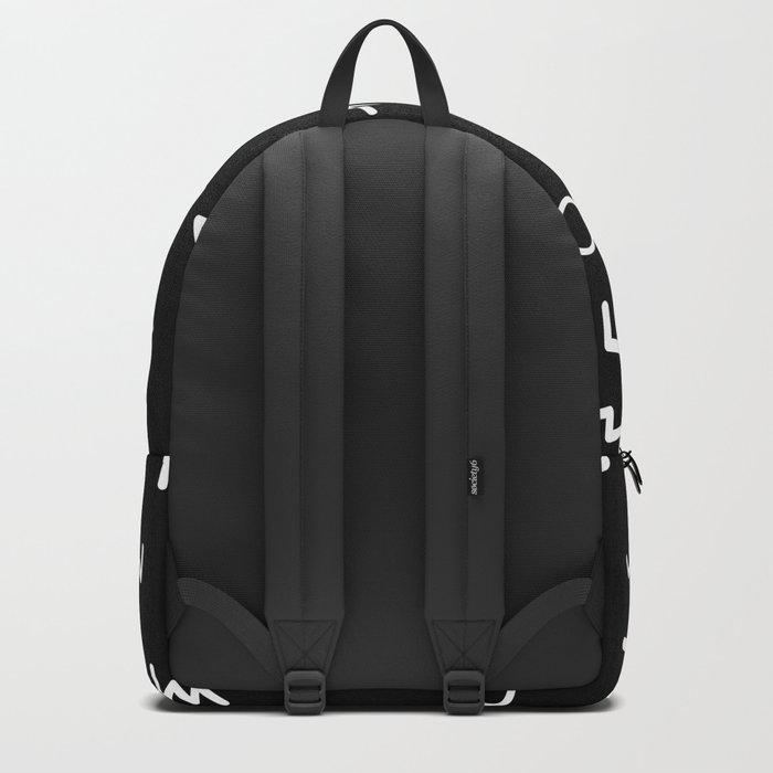 cool black pattern Backpack