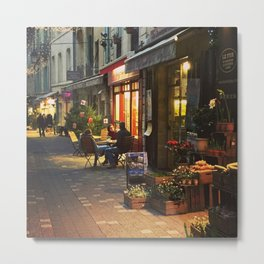 Evening in Provence Village Metal Print