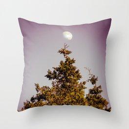Arabesque Moon and Tree Throw Pillow