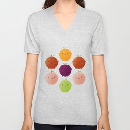 Cutie Fruity (Watercolour) Unisex V-Neck