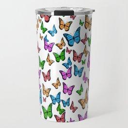Rainbow Butteflies Travel Mug