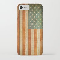 american flag iPhone & iPod Cases featuring American Flag by JobiJu