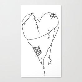 My Patchwork Heart Canvas Print
