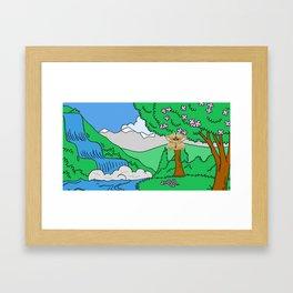 Basic Nature Background Kids Style Framed Art Print