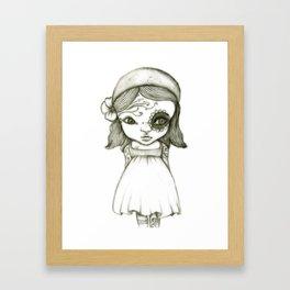 Tattooed Girl Framed Art Print