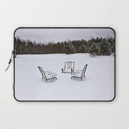 Snowy Meeting Laptop Sleeve