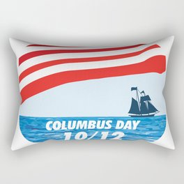 The Expedition to the End of the World - Happy Columbus Day Rectangular Pillow