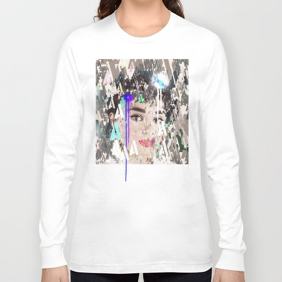 Audrey Type Abstract Art Long Sleeve T-shirt