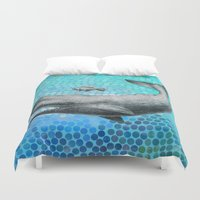 eric fan Duvet Covers featuring New Friends 3 by Eric Fan and Garima Dhawan by Eric Fan