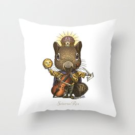 King of Squirrels Throw Pillow