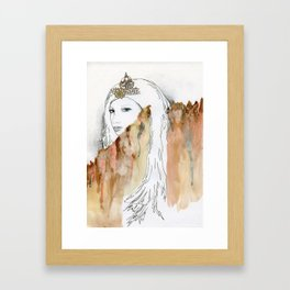 Ice Queen Of The Wall Framed Art Print