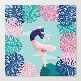Una bailarina que sueña con volar // A dancer who dreams of flying Canvas Print