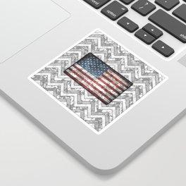 White Patriotic Chevrons Digital Camo Sticker