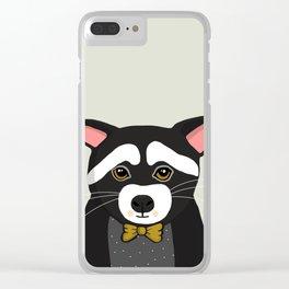 Raccoon Print, Woodlands Nursery Decor, Wall Art, Animals Print, Woodlands Nursery Art, Modern Minim Clear iPhone Case