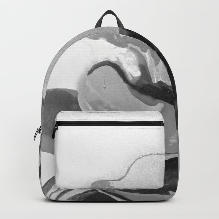 Burn The Flowers for Fuel Grey Backpack